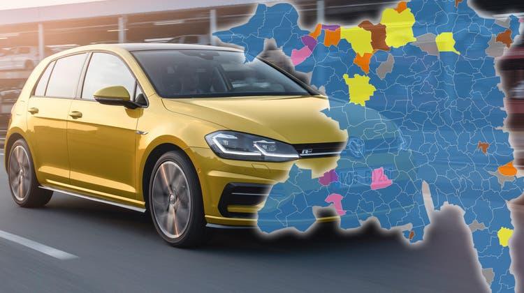 Subaru, Opel oder VW? Das sind die beliebtesten Autos in Ihrer Gemeinde
