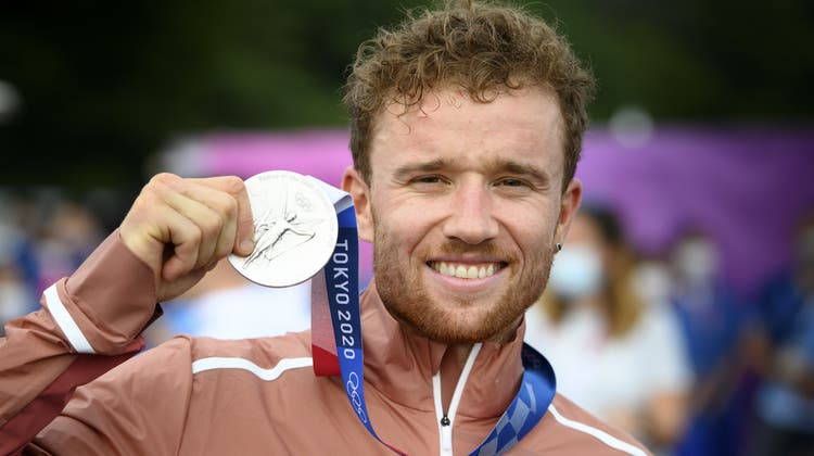 Mathias Flückiger gewinnt Olympia-Silber im Mountainbike. (Laurent Gillieron / KEYSTONE)