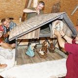 Ein Stall für die Schweizergarde – der Krippenverein Montlingen-Eichenwies schickt bald eine Krippe nach Rom
