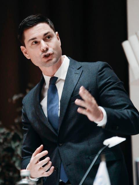 Benjamin Giezendanner, Präsident des Aargauischen Gewerbeverbandes.