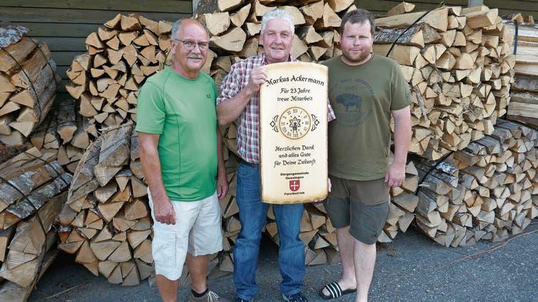 Markus Ackermann verlässt das Forstteam der Bürgergemeinde