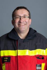 Martin Kern, Feuerwehrkommandant Niedergösgen.