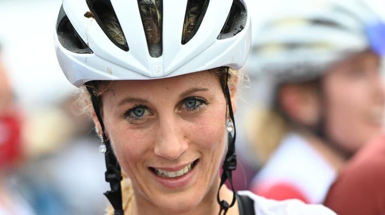 Jolanda Neff ist Olympia-Siegerin im Mountainbike. (Christopher Jue / EPA)