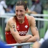 Nicola Spirig nach ihrem letzten Auftritt an Olympischen Spielen – ausgelaugt, aber glücklich. (Keystone)