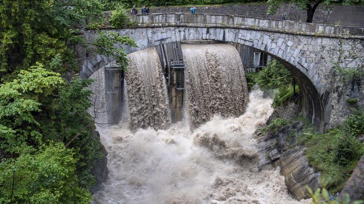 Der Juli brachte in einigen Regionen der Schweiz so viel Regen wie nie zuvor. (Keystone)
