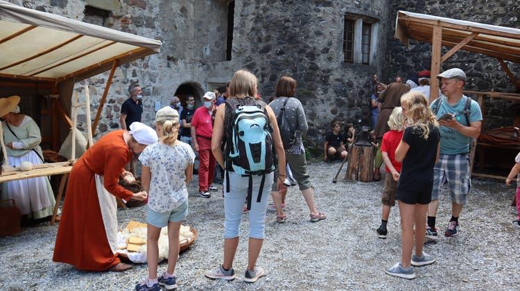 Impressionen Themenwoche «Leben im Mittelalter auf Schloss Hallwyl». (Larissa Gassmann / Aargauer Zeitung)
