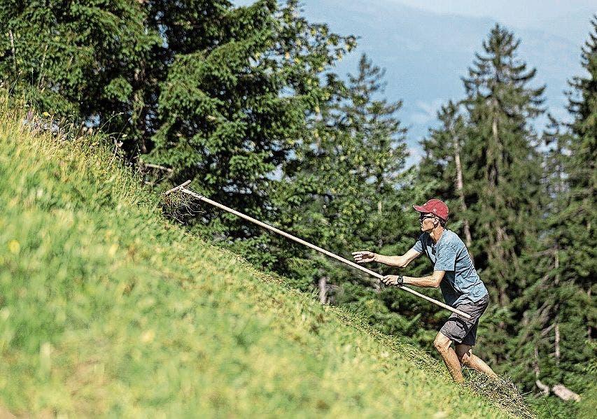 Der 17-jährige Tobias Müller aus dem Aargau mag die steilen Hänge.