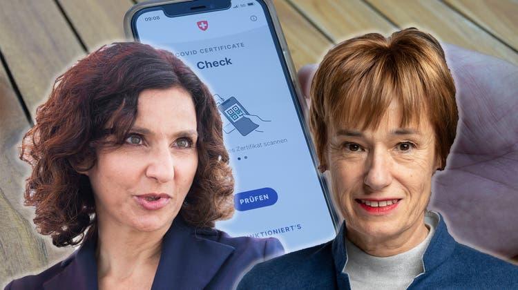 Nach Boykott-Drohung wegen Covid-Zertifikat: Aargauer Politkerinnen reagieren mit Unverständnis