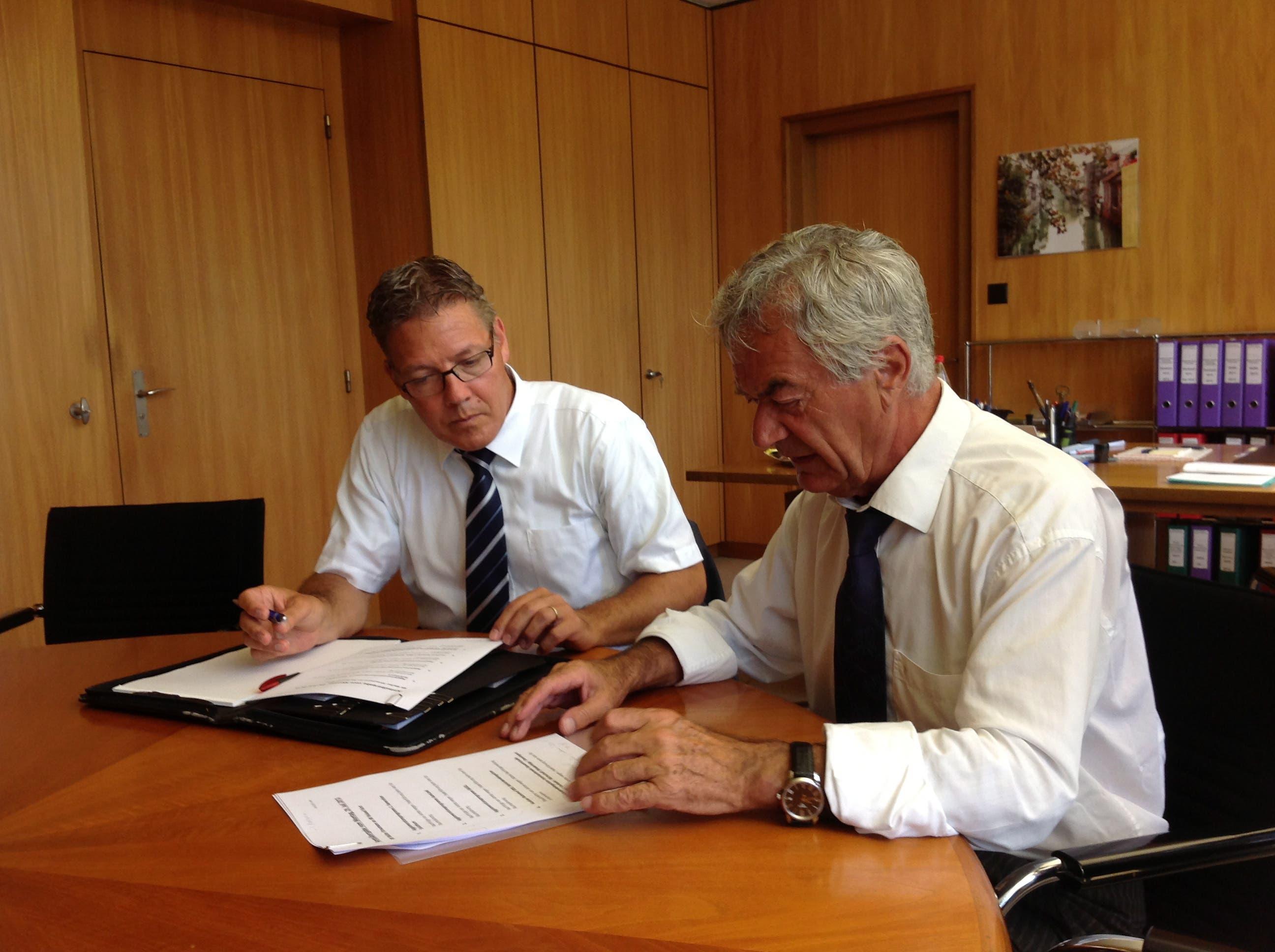 Im Juli 2013 übernahm er das Bau- und Justizdepartement von Walter Straumann, der nach 16 Jahren ging.