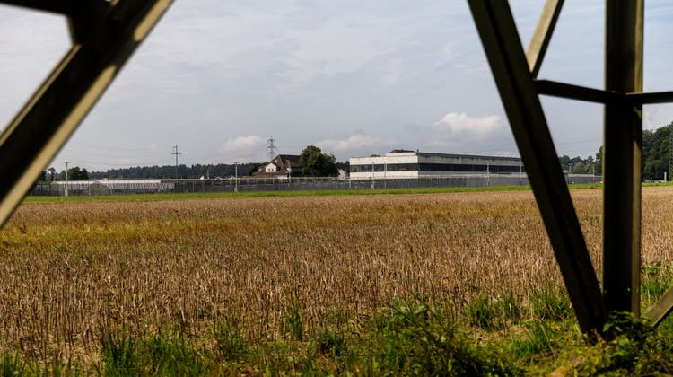 Auf diesem Gelände, zwischen der Aare und der Justizvollzugsanstalt im Schachen, soll das neue Zentralgefängnis gebaut werden. (Hanspeter Bärtschi)