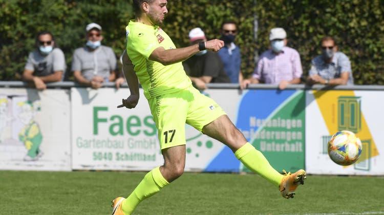 Schoeftland, 13.09.2020. Sport, Schweizer Cup Saison 2020 / 2021. FC Schoeftland (2. Liga interregional) - FC Solothurn (1. Liga).Emmanuel Mast (FCS). Copyright by: Alexander Wagner (Alexander Wagner)