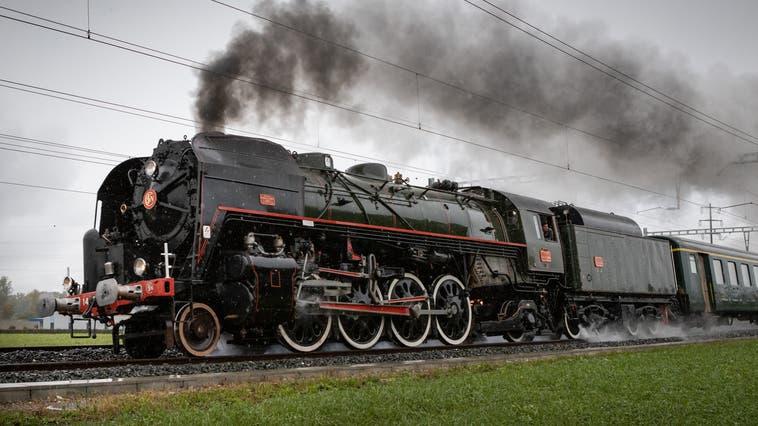 Eine Dampflokomotive des Typs 141R in Aktion. (Bild: Patrick Lüthy(3. Oktober 2020))