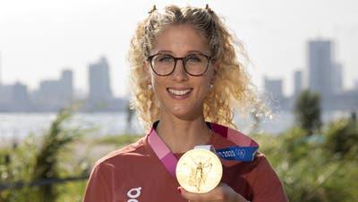 Jolanda Neff hat am Dienstag olympisches Gold im Mountainbiken geholt. (Bild: Peter Klaunzer / KEYSTONE)