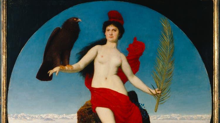 «Freiheit (Helvetia» betitelte Arnold Böcklin (1827-1901) das Bild und gab damit die Interpretation vor. Tempera und Öl auf Fichtenholz, 96 x 96 cm, Kunsthaus Zürich, Leihgabe der Nationalgalerie Berlin, 1983 (Kunsthaus Zürich)