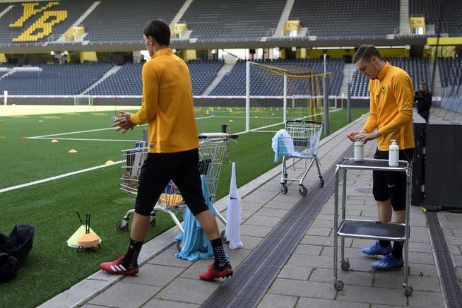 YB ist der bisher einzige Schweizer Club bei dem Spieler und Staff komplett geimpft sind.