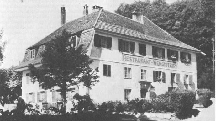Restaurant Wengistein wurde 1964 abgerissen. (zvg / Akten der Stadtammänner)