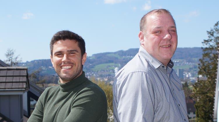 Christian Müller (rechts), hier noch als Sportchef des FC Dietikon, zusammen mit Trainer Joao Paiva. (Ruedi Burkart / Limmattaler Zeitung)