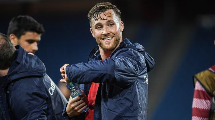 Silvan Widmer hat gut lachen: Sein Wechsel nach Mainz ermöglicht dem FC Aarau, Baden und Würenlos einen schönen finanziellen Zustupf. (Daniela Frutiger/Freshfocus)