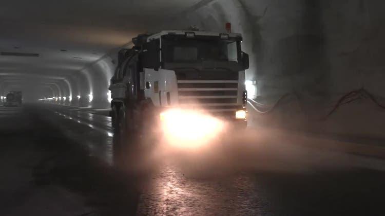 Im Video: Einblick in die Bauarbeiten der dritten Röhre am Gubrist