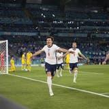Harry Maguire traf zum zwischenzeitlichen 3:0. (Alessandra Tarantino / AP)