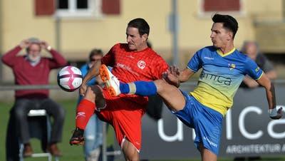 Vier Jahre nach dem Gewinn des Meistertitels will Petrit Krasniqi (r.) mit dem FC Biberist den Solothurner Cup holen. (Hans Peter Schläfli)