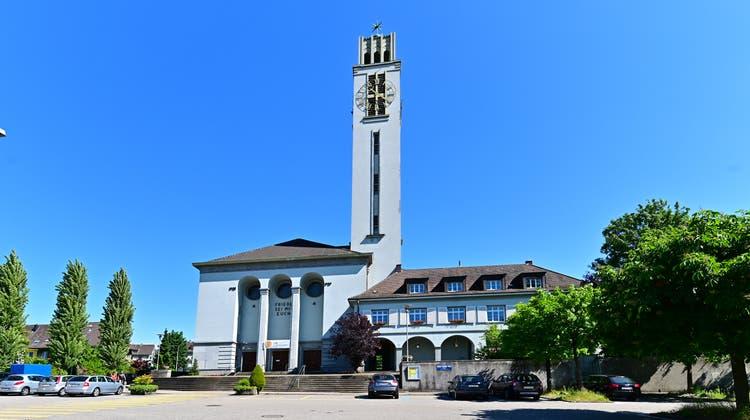 Turmsanierung an der Friedenskirche Olten. (Bruno Kissling)