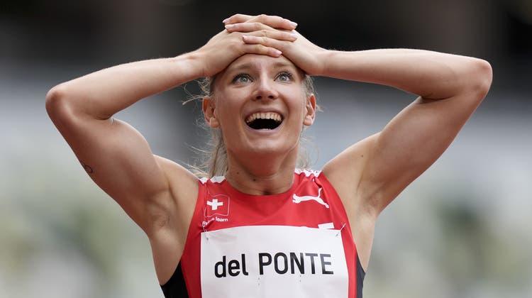 Ajla Del Ponte holt sich den Schweizer Rekord von Mujinga Kambundji. (Martin Meissner / AP)