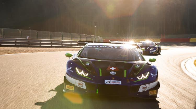 Geballte Power: In diesem Lamborghini wollen die Schweizer in Spa einen Prestigeerfolg landen. (Bild: zVg)