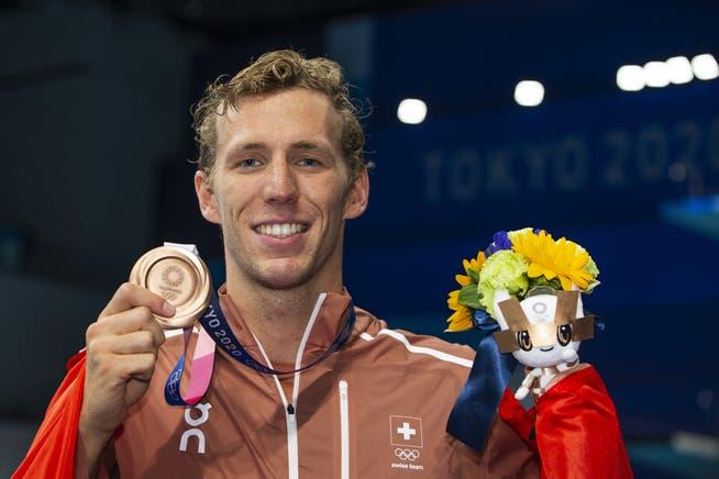 Jérémy Desplanches ist erst der zweite Schweizer Schwimmer nach Etienne Dagon 1984, der eine Olympia-Medaille gewinnt.