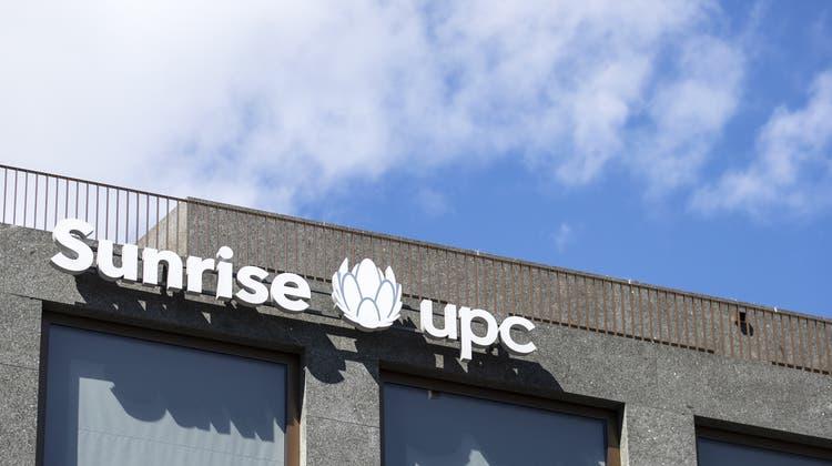 Sunrise UPC sieht sich auf Kurs. (Keystone)