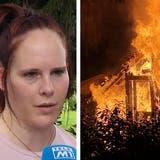 Zündeten Jugendliche Feuerwerk? Gartenschopf in Mumpf brennt komplett ab