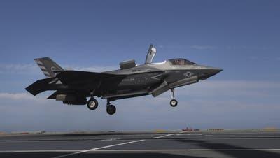 Der F-35-Kampfjet, von dem die Schweiz 36 Stück kauft. (Ana Brigida / AP)