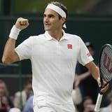 Roger Federer überzeugt in Wimbledon erneut. (Neil Hall / EPA)