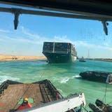 Monatelange Blockade im Suezkanal durch die «Ever Given.» (Keystone)