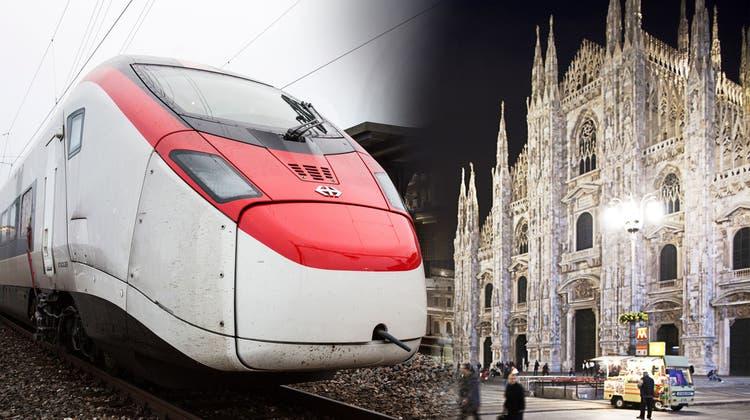 Der Gotthard-Hochgeschwindigkeitszug «Giruno»der SBB am Bahnhof Wädenswil. (Severin Bigler / MAN)