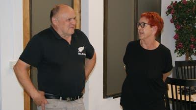 Der neue Präsident und seine Vorgängerin: Armin Jungi und Evi Schaad. (Bild: Thomas Brack)