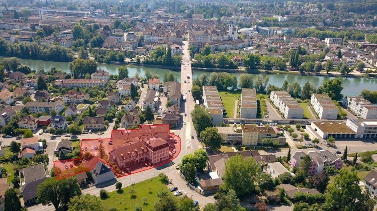 Im zentral gelegenen Quartier Scheibenschachen nördlich der Aarauer Altstadt entwickeln SWICA und die Steiner AG gemeinsam eine gemischt genutzte Überbauung. (Zvg / Aargauer Zeitung)