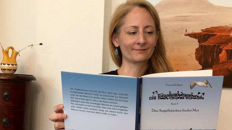 Die Möhliner Kinderbuchautorin Yvonne Rudigier hat den dritten Band ihrer Reihe «Die Häschenbärenbande» veröffentlicht. (Yvonne Rudigier)