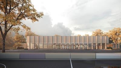 Visualisierung der geplanten Sirnacher Dreifachturnhalle Birkenweg. ((Bild: PD))