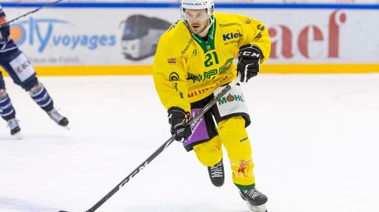 Letzte Saison im Dress des HC Thurgau: Jan Mosimann. (Freshfocus)