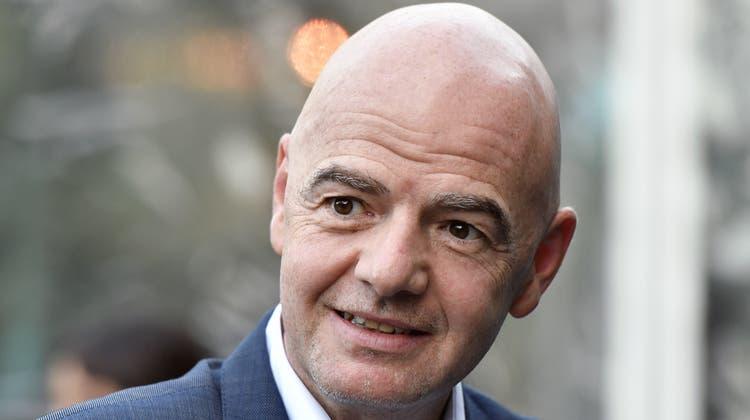 Mit welchem Ermittler bekommt er es zu tun? Fifa-Chef Gianni Infantino. (Walter Bieri / KEYSTONE)