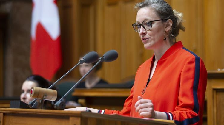 Aline Trede, Fraktionschefin der Grünen: «Wir können nicht immer nur zuwarten.» (Keystone (Bern, 10. März 2020))