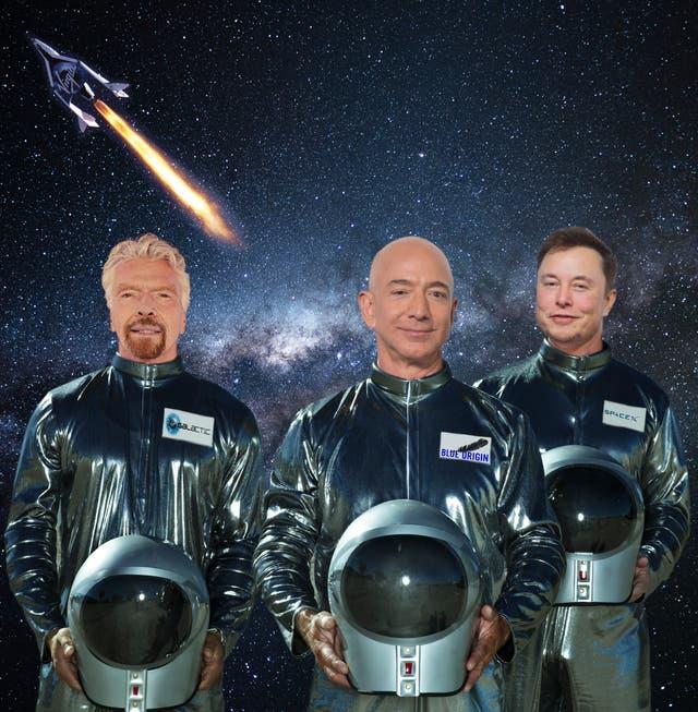Wer hat die grösste Rakete? Dieses Wochenende lancieren drei Milliardäre den Kampf ums All