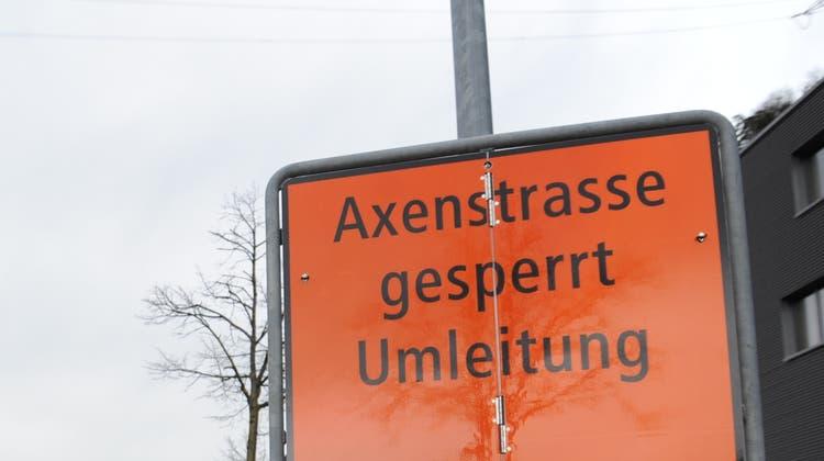 Auch bereits im Februar dieses Jahres war die Axenstrasse gesperrt. (Bild: Urs Hanhart (Flüelen, 3. Februar 2021))