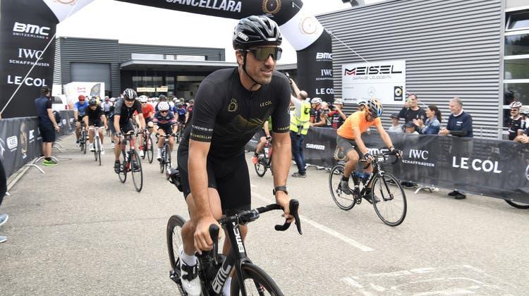 Olympiasieger Fabian Cancellara geht auf die Strecke. (Alexander Wagner)