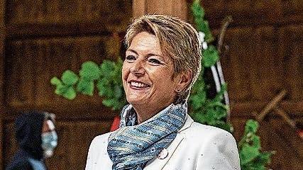 Bundesrätin Karin Keller-Sutter feierte in Kleinwangen