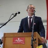 FDP-Regierungsrat Walter Schönholzer spricht in Berg. (Bild: Manuela Olgiati)