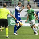 Boris Babic bejubelt sein 2:0 gegen den FC Luzern. (Bild: Keystone)
