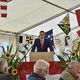 Regierungsrat Jean-Pierre Gallatiwar am 1. August zu Gast in seiner HeimatgemeindeWaltenschwil. (Melanie Burgener)
