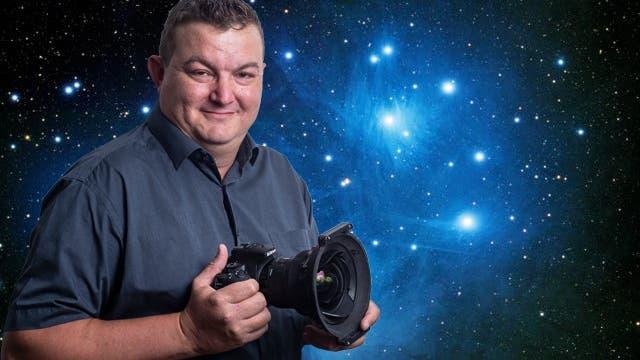 Michael Uebelhart aus Steinhausen beschäftigt sich intensiv mit der Astrofotografie. (Bild: Stefan Kaiser (Zug 04. August 2021))